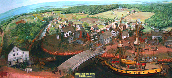 Bladensburg colonial port diorama