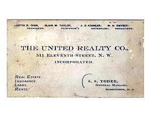 United Realty calling card