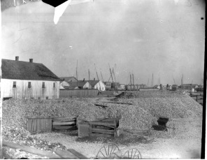 Crisfield Harbor Oyster House, 1901. (from Smithsonian Institution Web Exhibit)