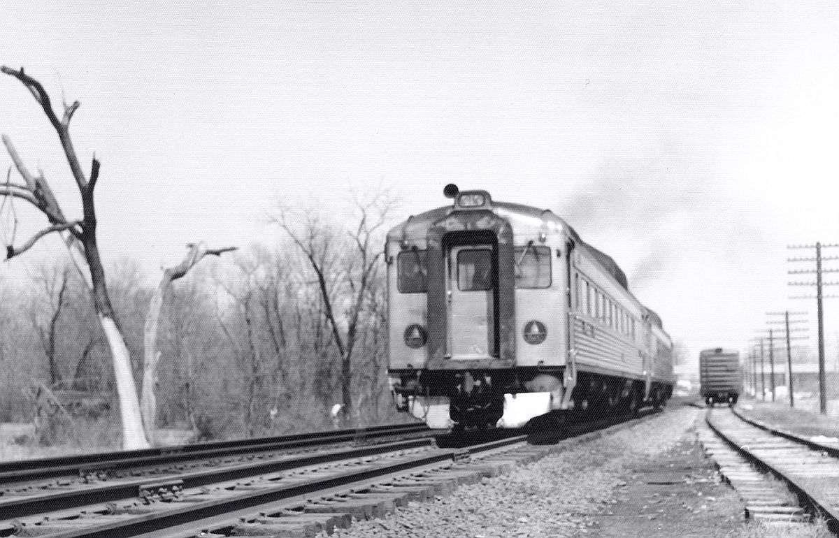 Railroad tracks near Berwyn Station, 1961